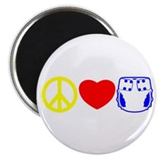 Peace, Love, Cloth Primary Magnet
