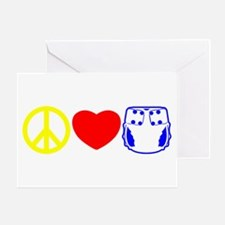 Peace, Love, Cloth Primary Greeting Card