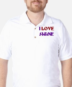 I Love Shane Golf Shirt