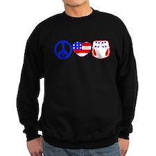 Peace, Love, Cloth Sweatshirt