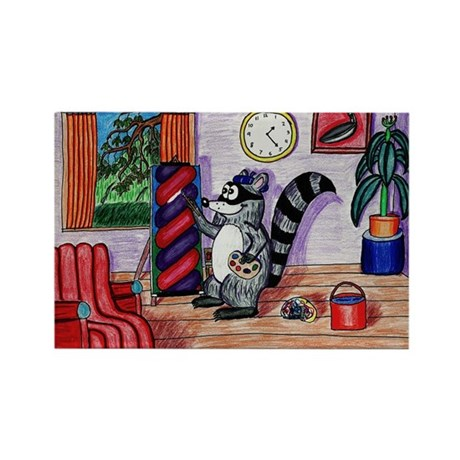 Walter's New Painting Rectangle Magnet (10 pack)