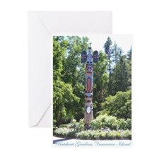 Totem Pole, BG, VI Greeting Cards (Pk of 20)