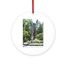 Totem Pole, BG, VI Ornament (Round)