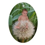 Flower Baby Oval Ornament