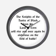 Tunics of Black Wall Clock