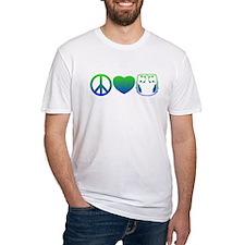 Peace, Love, Cloth Blue/Green Shirt