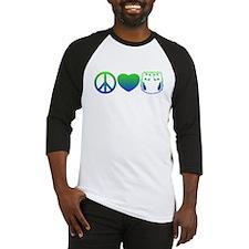 Peace, Love, Cloth Blue/Green Baseball Jersey
