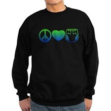 Peace, Love, Cloth Blue/Green Sweatshirt