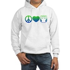 Peace, Love, Cloth Blue/Green Hoodie