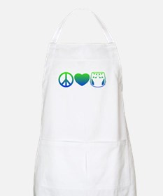 Peace, Love, Cloth Blue/Green BBQ Apron
