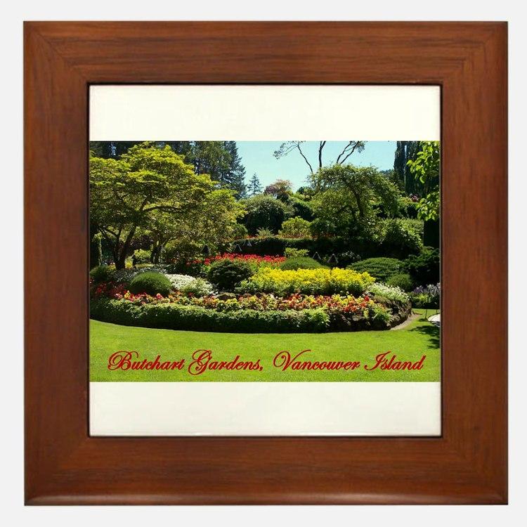 Flowers BG, VI Framed Tile