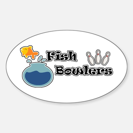 Fish Bowlers Oval Decal