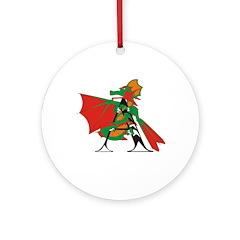 Dragon A Ornament (Round)