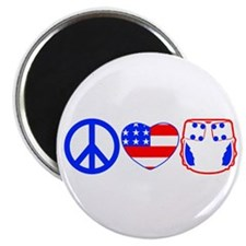 Peace, Love, Cloth Magnet