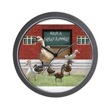 Unique Duck teacher Wall Clock