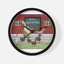 Cute Teacher duck Wall Clock