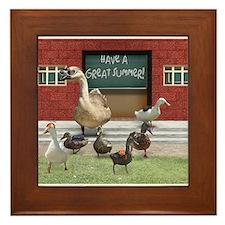 Teacher duck Framed Tile