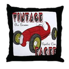 Vintage Sprint Car Racer Throw Pillow