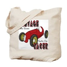 Sprint Car Vintage Racer Tote Bag