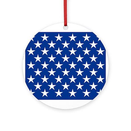 50 Star US Flag Ornament (Round)