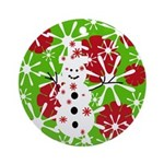 Snowman Christmas Ornament (Round)