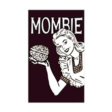 Mombie ~ Zombie Mother Rectangle Sticker 50 pk)