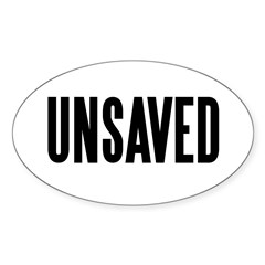 UNSAVED! Oval Decal