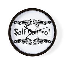Martial Arts Self Control Wall Clock