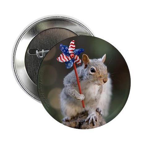 Patriotic Squirrel 2.25 inch Button