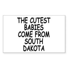 The cutest babies come from South Dakota Decal