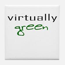 Virtually Green Tile Coaster
