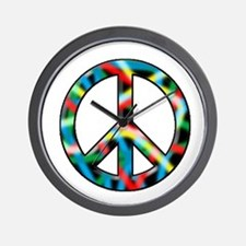 Neon peace Wall Clock