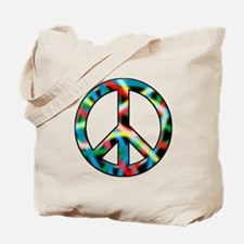 Neon peace Tote Bag