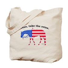 Jesus, take the Reins Tote Bag
