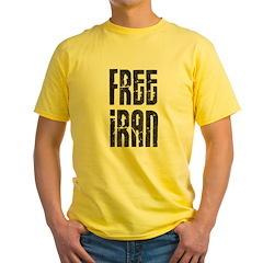 Free Iran Yellow T-Shirt