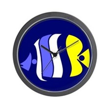 Unique Butterfly fish Wall Clock