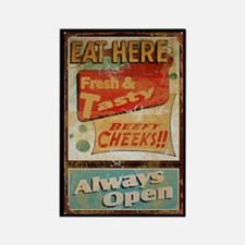 Eat Here Rectangle Magnet
