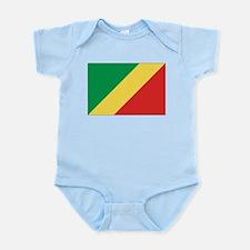 Congo-Brazzaville Flag Infant Bodysuit