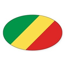 Congo-Brazzaville Flag Oval Decal