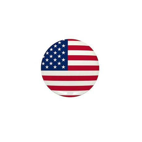 Chubby US Flag Mini Button (10 pack)