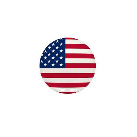 Chubby US Flag Mini Button