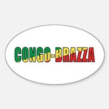 Congo-Brazzaville Oval Decal