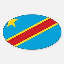 Congo-Kinshasa Flag Oval Decal