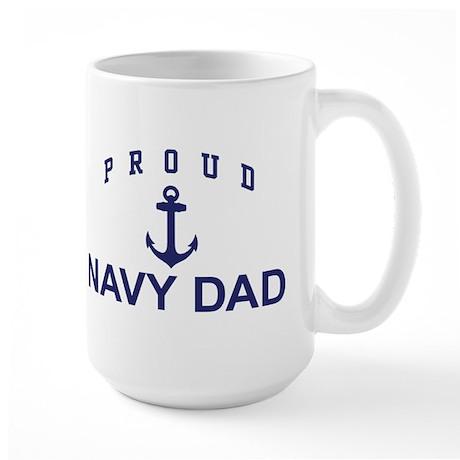 Proud Navy Dad Large Mug