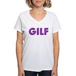 GILF Women's V-Neck T-Shirt