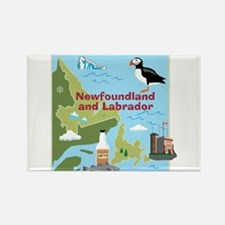 Newfoundland and Labrador Map Rectangle Magnet