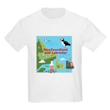 Newfoundland and Labrador Map T-Shirt