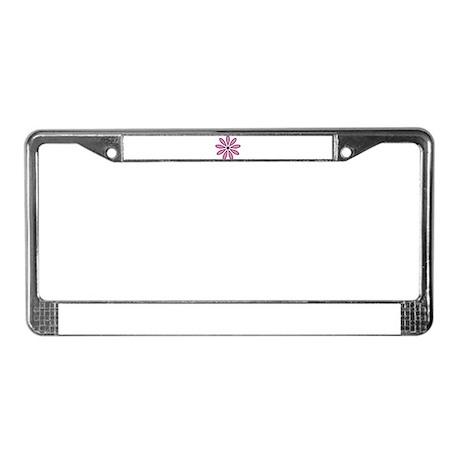 Flower License Plate Frame
