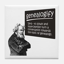 Genealogify Tile Coaster