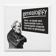 Genealogify Tile Coaster